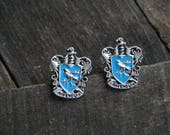 Ravenclaw cufflinks harry potter cufflink - blue blazon hogwarts house Poudlard