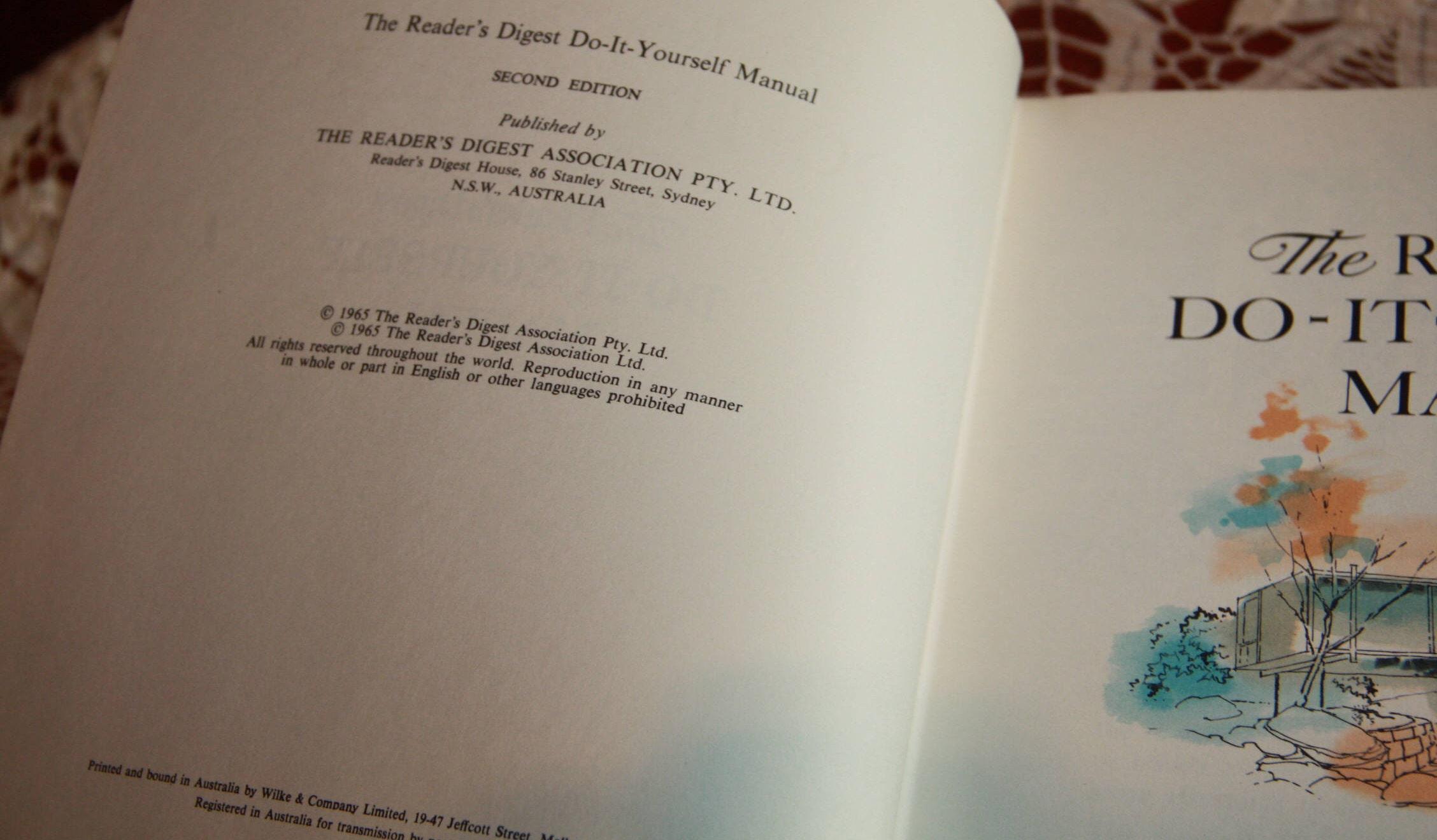 1965 vintage readers digest do it yourself manual very nice 6398 solutioingenieria Gallery