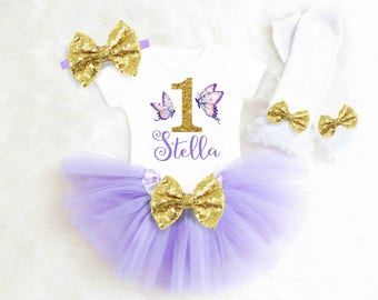 Butterfly Birthday Outfit Butterfly First Birthday Outfit Girl Purple and Gold Birthday Butterfly tutu outfit 2nd Birthday Outfit Girl 35