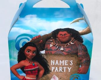 Moana Personalised Children's Party Box Gift Bag Favour