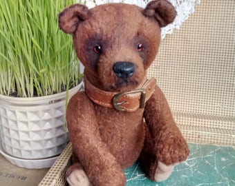 OOAK teddy Artist teddy bear Teddy bear Circus bear Brown bear Toy bear  Collection bear Plushy toy Bear handmade  Teddy toy Bear Plush bear