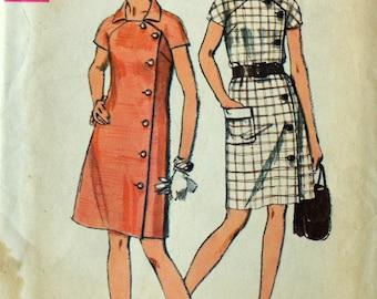 Uncut 1970s Simplicity Vintage Sewing Pattern 8735, Size 20.5; Misses' Dress