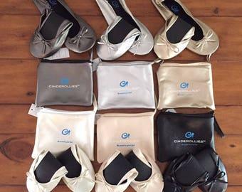 Foldable Flats,Rollable Flats,Ballerina Flats,Wedding Flats,Wedding Slippers,Bridesmaid Flats,Shoes for Bridesmaids,Flat shoes,ballet flats