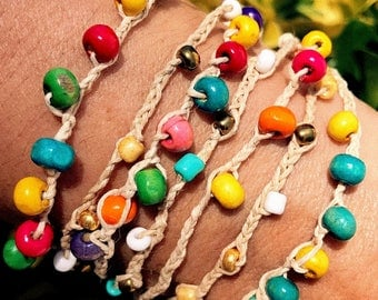 Colorful Hemp Bracelet / Anklet
