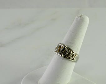 Sterling Heart Ring Size 8