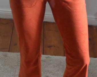 Late 1960s inspired bell-bottom hipster trousers