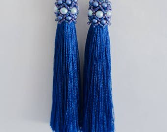 Tassel Earrings Earrings Long Earrings Tassel Earrings Swarowski Earrings