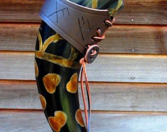 Drinking Horn, Viking drinking horn, Celtic drinking horn, Scandinavian drinking horn, Mead horn, Ale horn, Horn cup, horn mug, steer horn