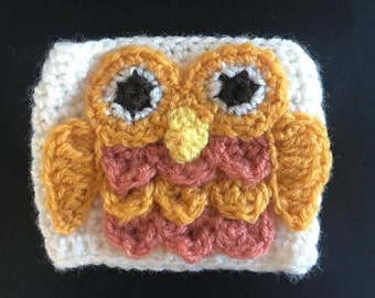 Coffee Cup Cozy Sleeve - Owl