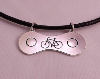 Bicycle Pendant, Sterling Silver