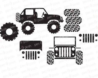 Svg - Jeep SVG - Jeeping SVG - Jeep SVG File - Off Roading Svg - Mud Tire Svg - Jeep Clip Art - Jeep Cut Files - Dxf   Eps