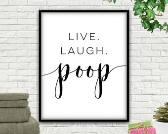 Bathroom Signs No Pooping no poop sign | etsy