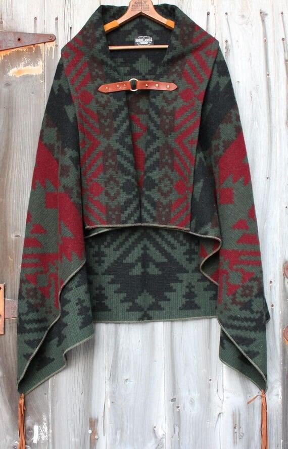 Wool Blanket Poncho