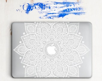 Macbook Air Hard Case Macbook Air 13 Hard Case Mandala Macbook Hard Case Macbook Pro 13 Case  White Mandala Macbook Pro Hard Case CGMC0002