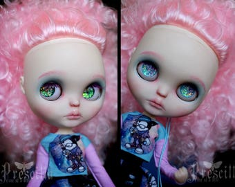 Custom Blythe Dolls For Sale by OOAK Marshmallow Custom Blythe doll Face up and Customized Blythe Toys doll