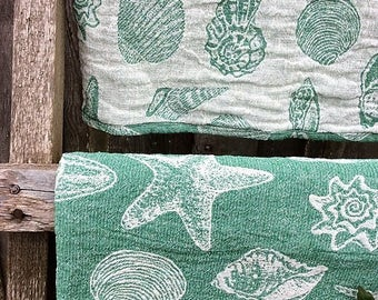 Softened linen towel Set Rustic bath towel SPA towel Eco friendly towel Sauna towel  Stonewashed linen towel Green towel Pure linen towel