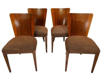 Set of Four Jindrich Halabalah H 214 Dining Chairs [6983]