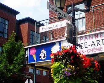 Montreal Photography - At the Corner of Rue Prince-Arthur & Avenue De Hotel-de-Ville