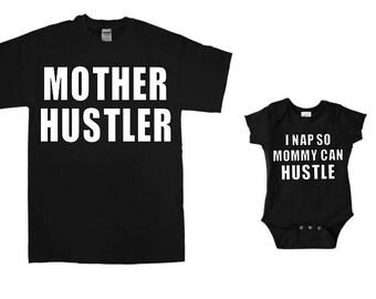 Mother Hustler / I Nap so Mommy can Hustle - Set or Separates