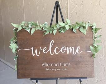 Welcome Wedding Sign, Wedding Welcome Wood Sign, Wood Welcome Wedding Sign, Wedding Signs, Wood Wedding Sign, Custom Wedding Signage, Chic