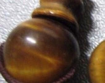 ON SALE 15% OFF Tiger's Eye Prayer Mala Guru Beads 3 Holes 1pc