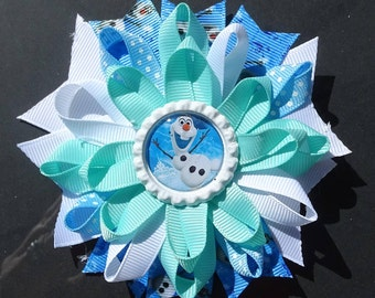 Frozen Olaf Loopy Bow