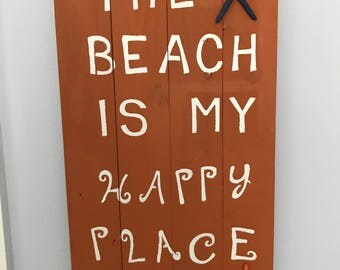 Wood Beach Signs,Wood Beach Sayings,Wood Coastal Decor, Bathroom Decor, Living Room Decor