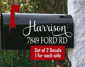 Personalized Mailbox-Name Mailbox Decals-Street Address Decal-Mailbox Decals-Mailbox Vinyl Decals-Mailbox Vinyls