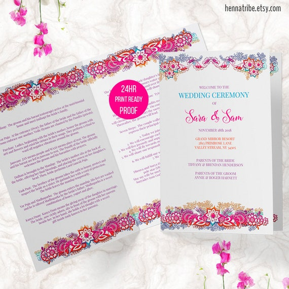 bi fold wedding programs
