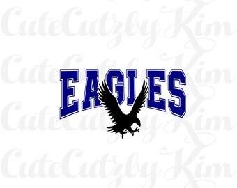 Eagles mascot svg, dxf, png, jpg, cutting file, cricut file, silhouette file