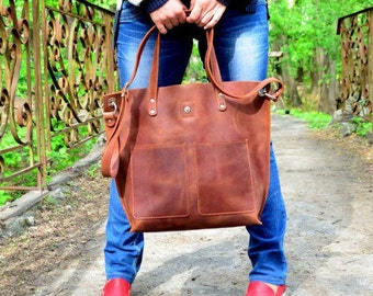 Leather Shoulder Bag, Handmade shoulder bag, Leather Bag, Large Shoulder Bag, Leather Purse, Handmade Leather Handbag, Leather Camera Bag