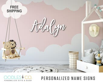 Name Sign for Kids | Name Sign Wood | Nursery Name Sign |Nursery Name Sign Girl | Nursery Name Sign Boy | Name Sign for Nursery |  DS08