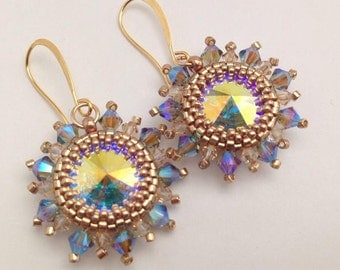 Sunburst Rivoli Earrings