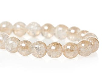 23 pearls 6mm Champagne colored glass
