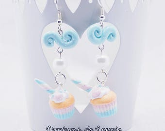 Unicorn Cupcake earrings