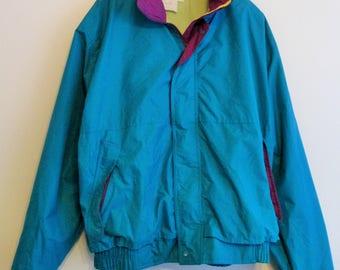 80's WearGuard Neon Teal Light Jacket/Windbreaker