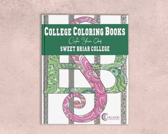 Sweet Briar College SBC Custom Adult Coloring Book | SBC Vixens love pink & green | Holla Holla! Up, Up Sweet! | Back to School