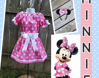 Minnie Mouse Costume, Minnie Mouse Set, Minnie Mouse Halloween, Minnie Mouse Birthday, Minnie Meet & Greet, Pink Minnie