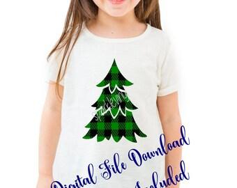 Christmas Tree SVG, Buffalo Plaid Christmas Tree Svg, buffalo plaid svg, Christmas Svg, svg files, for cricut, for silhouette, printable