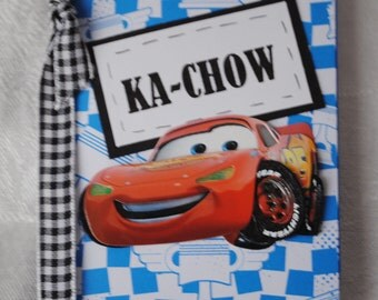 Personalized Disney Cars Mini Altered Composition Book