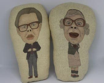 The League Of Gentlemen Inspired Plush Doll/Tubbs and Edward/Stuffed Soft Toy/Plushie Ornament/Comdey Horror/Unusual Christmas Gift idea