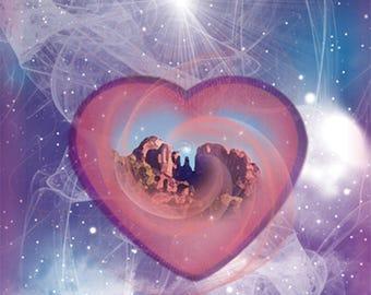 "Greeting Card ""Heart of Sedona"""
