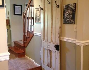 Antique Farm House Door Coat Rack