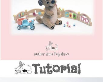 SUMMER SALE Tutorial Needle felting DIY Needle Felted Dog Easy to follow Instructions How to needle felt Puppy, Step by step wool, Needle Fe