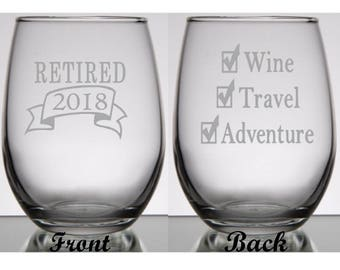 Retirement Gifts for Women, Retirement Gift for Man, Retirement Wine Glass, Boss Retirement Gift, Retirement Gift Idea, Retirement Party
