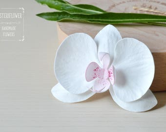 Summer Sale Orchid hair clip Flower hair clip orchid hair piece Beach Wedding Tropical Flower Orchid White Hair flowers Boho Bride accessory