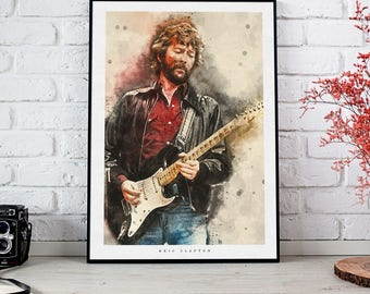 Eric Clapton Art Print and poster
