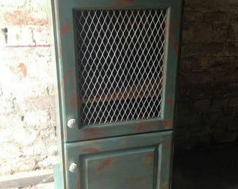 Upcycled Shabby Chic Pine Cupboard Unit
