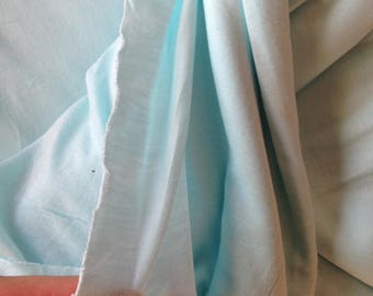 Coupon thin turquoise blue jersey fabric