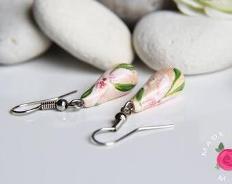 Stud Earrings - dangle - SECRET GARDEN - Breath